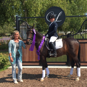 Hollywood at the FEI Pony Finals in 2015